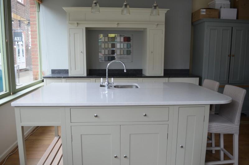 ex display kitchens neptune in frame ex display kitchen, silestone and granite worktops,  island, neff DAGKTTP