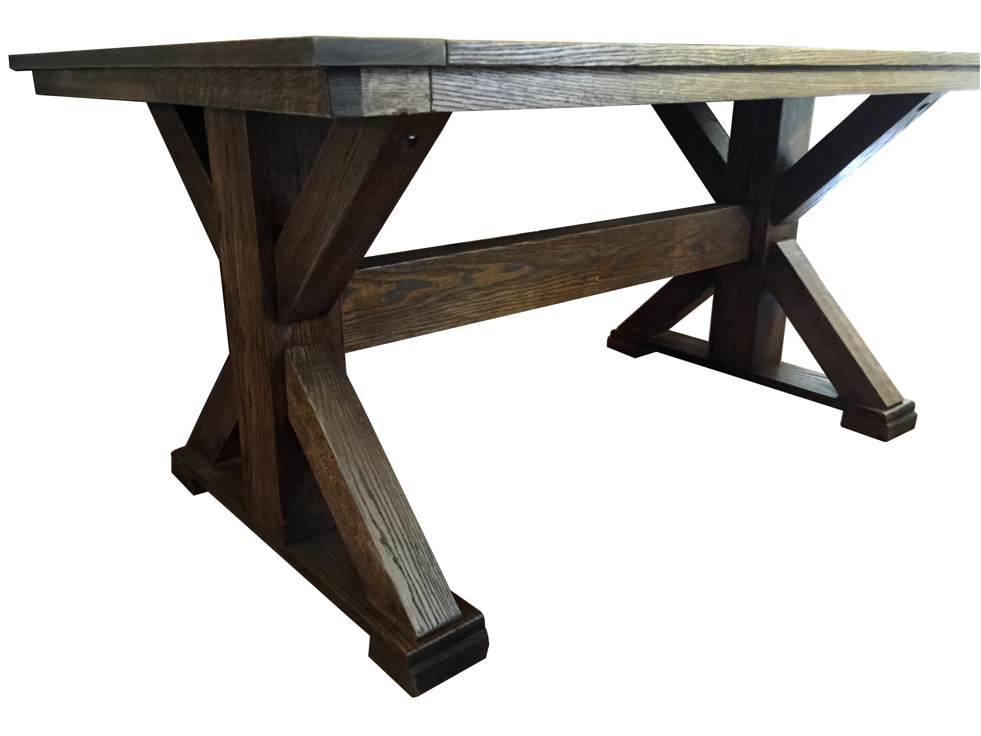 extending/fixed trestle table plans IDDCDYJ