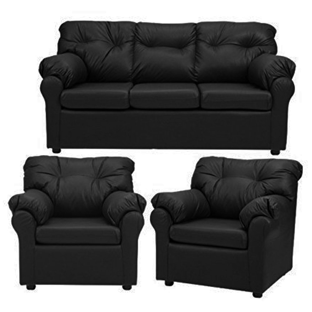 fabhomedecor elzada five seater sofa set 3-1-1 (black): amazon.in: home u0026  kitchen RIRICPV