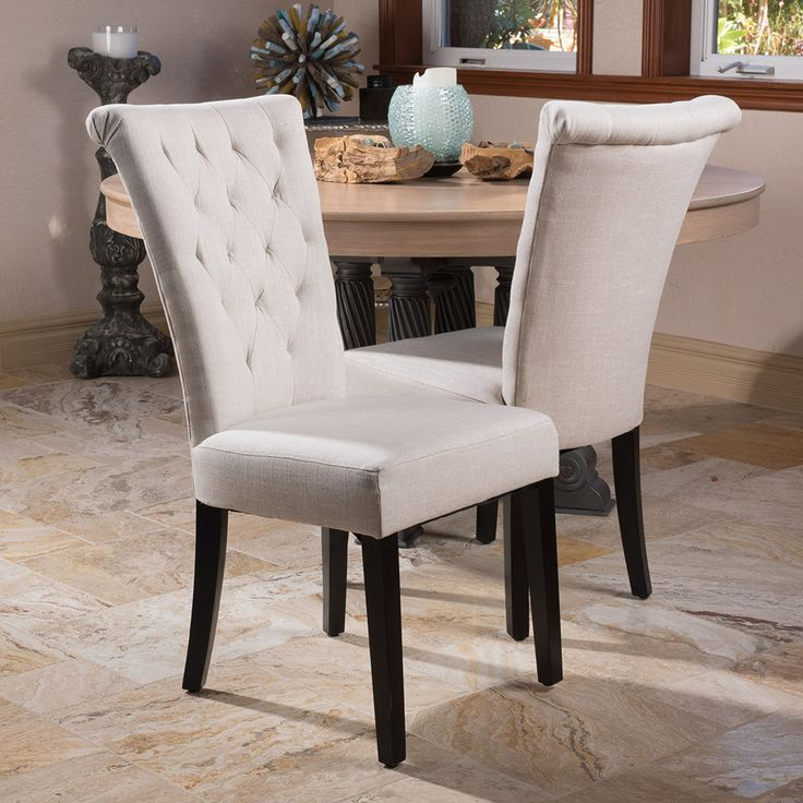 fabric dining chairs paulina light beige fabric dining chair (set of 2) OBZTPSA