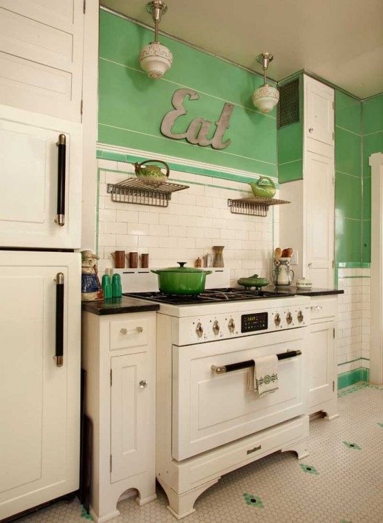 fabulous vintage kitchen designs to die for EJWKMJQ
