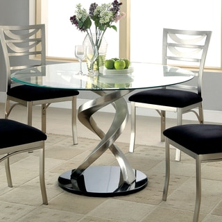 fair round glass dining table in interior home designing with round glass PJGTRGC
