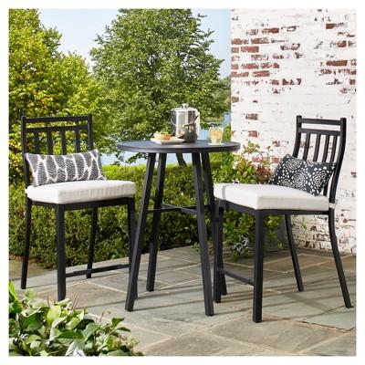 fairmont 3-piece steel balcony-height patio bistro set - threshold™ TPOHJLM