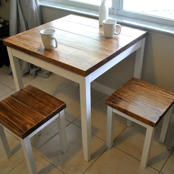 farmhouse breakfast table or small dining table set with or without stools YAMJKKN