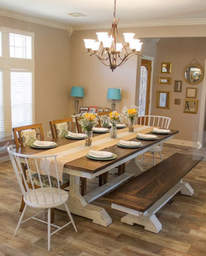 farmhouse dining room table 12 farmhouse tables and dining rooms youu0027ll love VXLEVXN