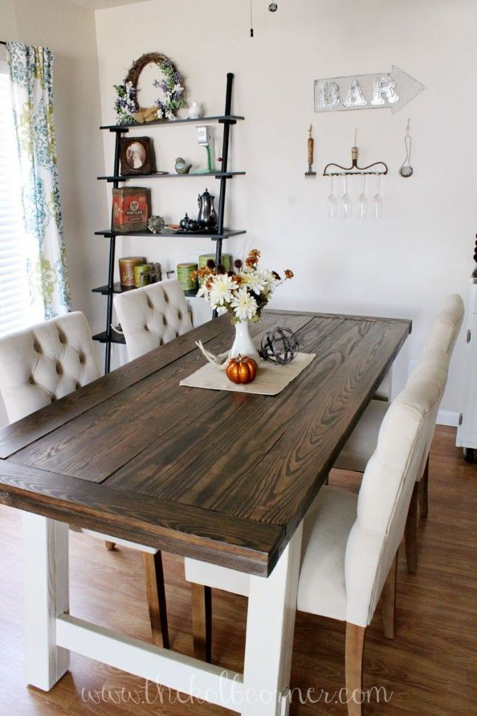 farmhouse dining room table diy farmhouse style dining table UOPEQGP
