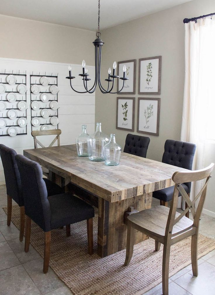 farmhouse dining room table modern farmhouse dining room u0026 diy shiplap QJLVLKX