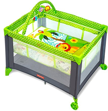 fisher-price playmate portable baby cot MUITJVB