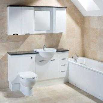 fitted bathrooms gloss white fitted furniture SWPXAOW