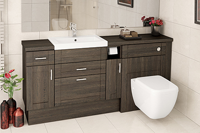 fitted bathrooms mali oak fitted bathroom furniture QKUZFRX