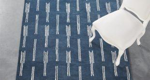 flight blue rug | cb2 RYVWLQP