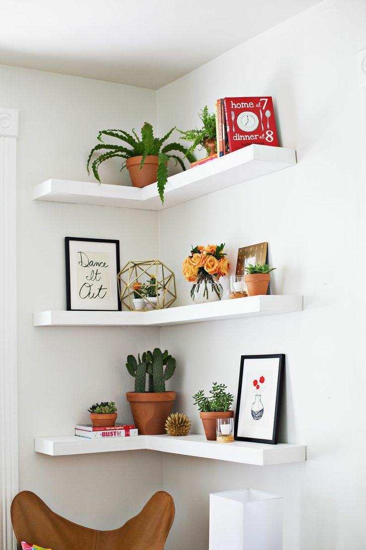 floating bookshelves 35 ideas to make every room in your house prettier. floating corner shelvescorner PNTEZUB