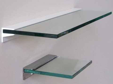 floating glass shelves - glass floating shelves bunnings RHJBNQN
