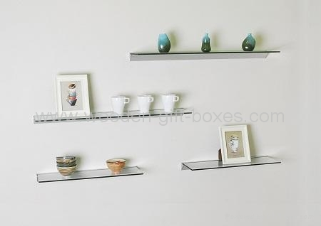 floating glass shelves glass wall floating shelves, display shelvings 1 ... JRXOYQI