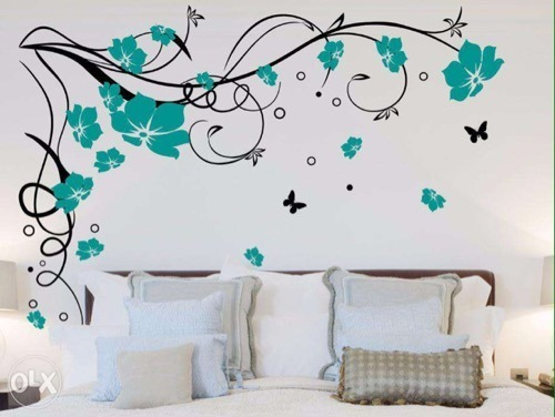 flower design wall painting JSLAVWS