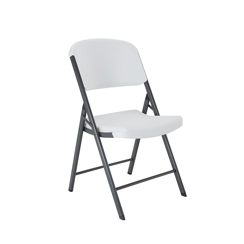 folding chairs amazon.com: lifetime 42804 folding chair, white granite, pack of 4: garden  u0026 EAFTYCW