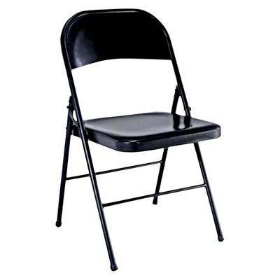 folding chairs folding chair black - plastic dev group® YSTPWHQ