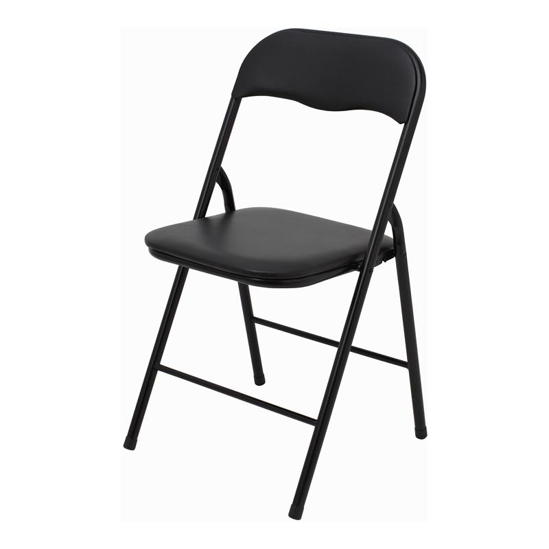 folding chairs marquee padded vinyl black folding chair | bunnings warehouse NEQLAEH