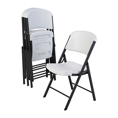 folding chairs top rated lifetime commercial grade contoured folding chair, select color -  4 VBIJLWP