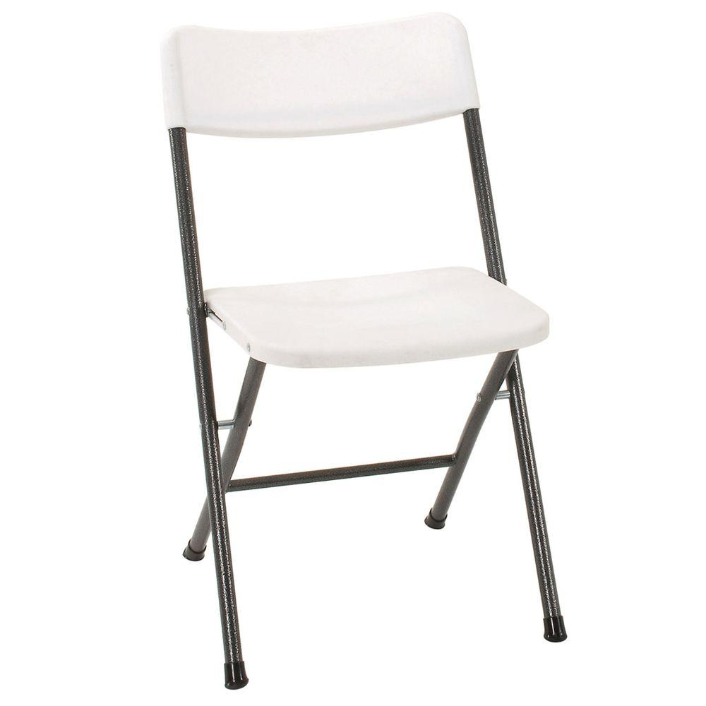 folding chairs white folding chair (set of 4) NOZAJID