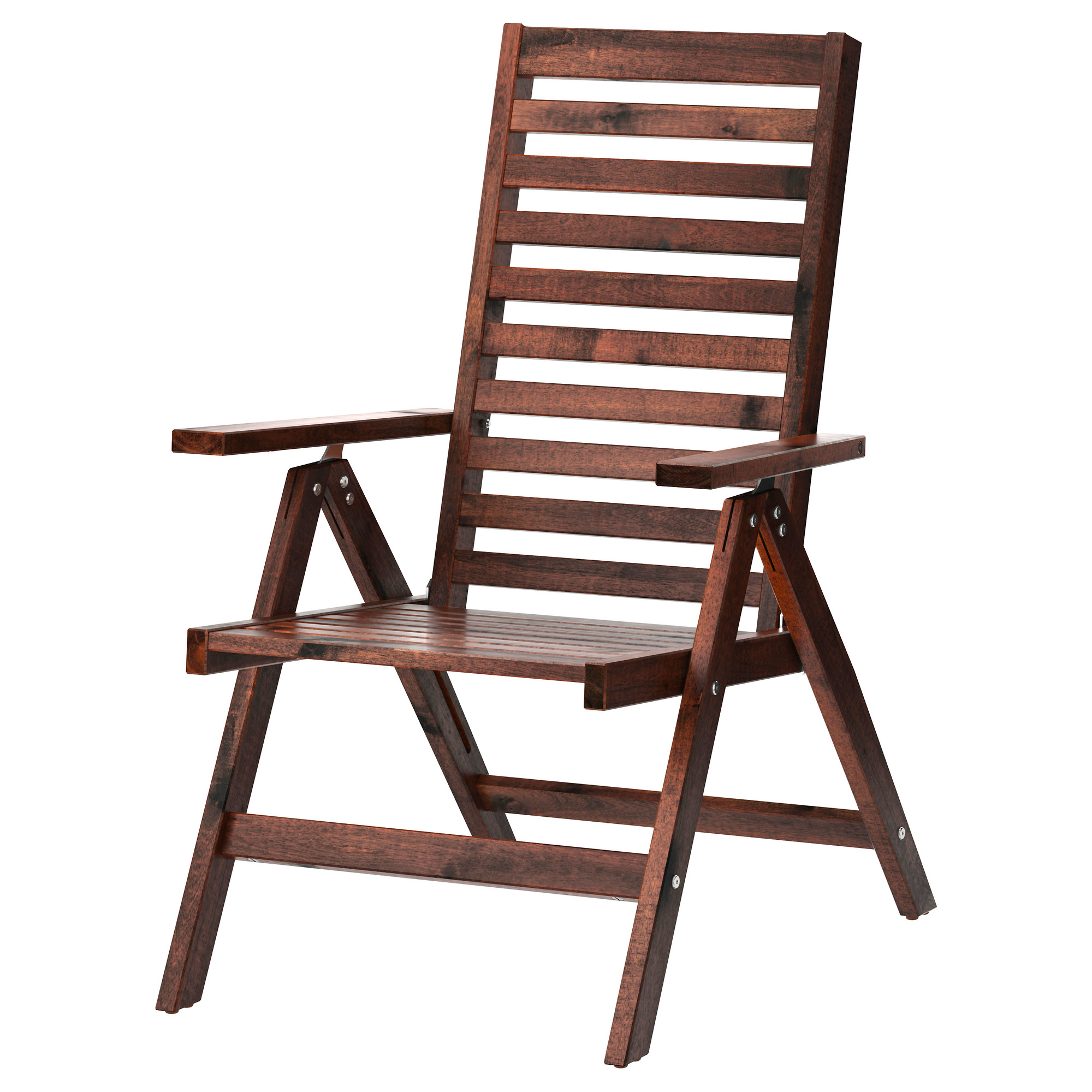 folding garden chairs äpplarö reclining chair, outdoor - foldable brown stained - ikea AGRDOZR