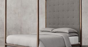 four poster bed montrose tufted high panel four-poster bed AHYLRVH