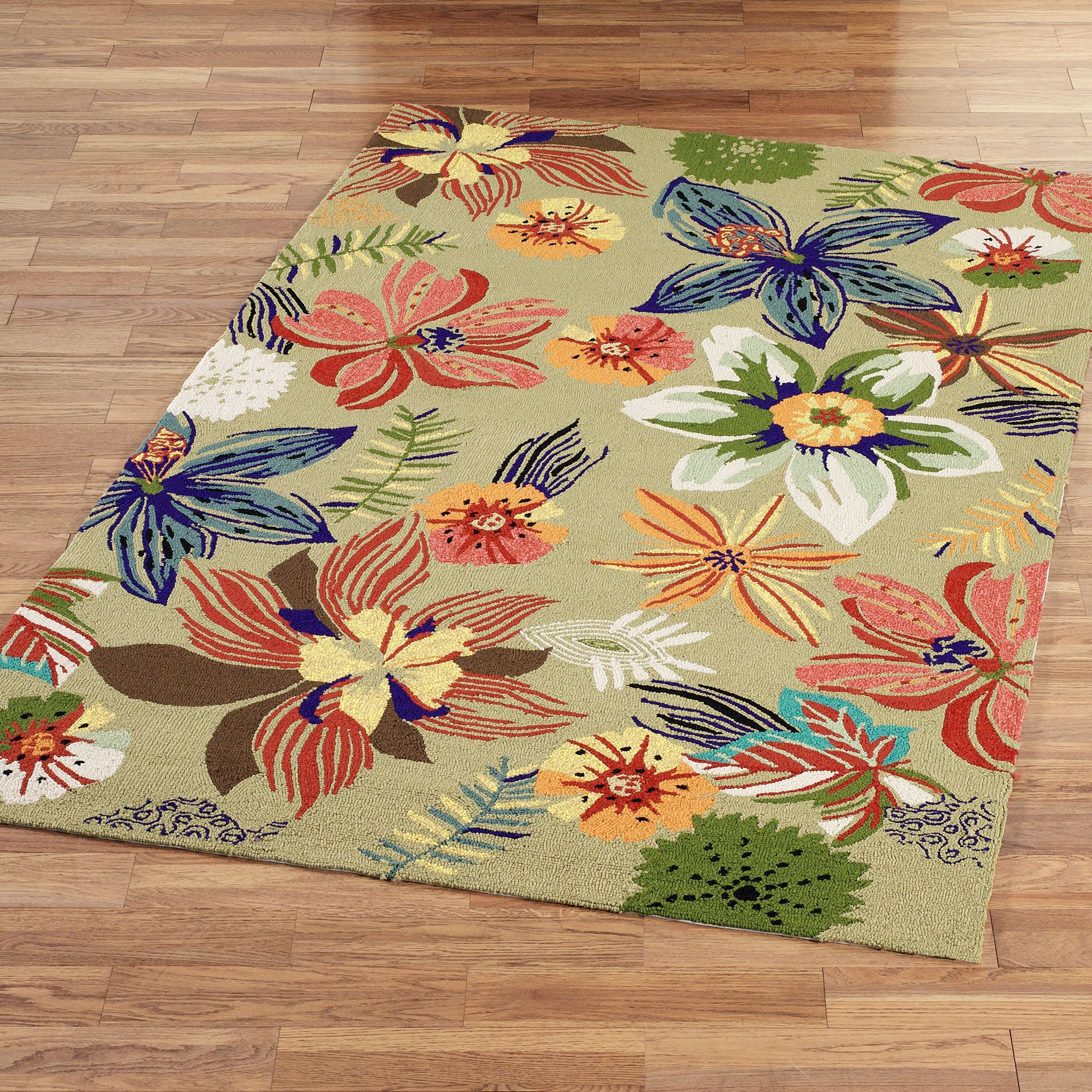 four seasons tropical floral indoor outdoor rugs MVXCJCV