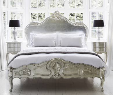 french bedroom furniture sylvia silver - silver french furniture EAHMWPY
