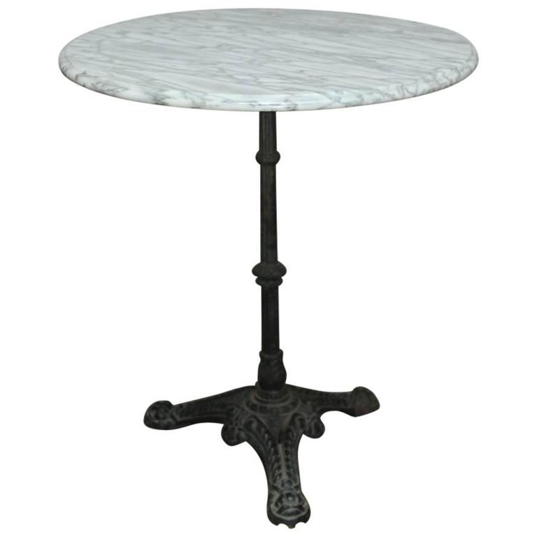 french parisian marble-top bistro table 1 QUFMQUH