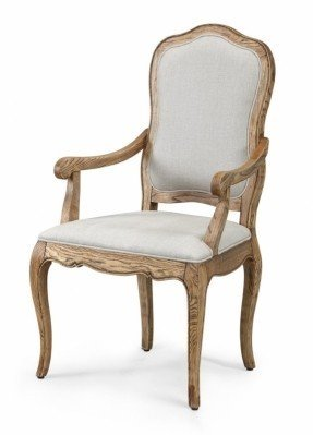 french provincial furniture natural oak dining arm chair QCWAJRX
