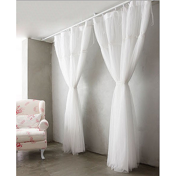 french style white sheer solid lace curtains WTEZDUV