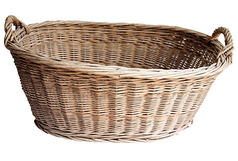 french wicker laundry basket XZCDHOV