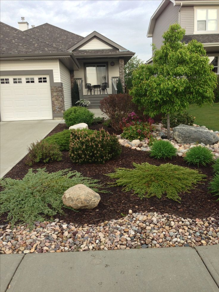 front yard landscaping ideas front side yard curb appeal - same kinda layout as my yard-minus the OEAKGWF