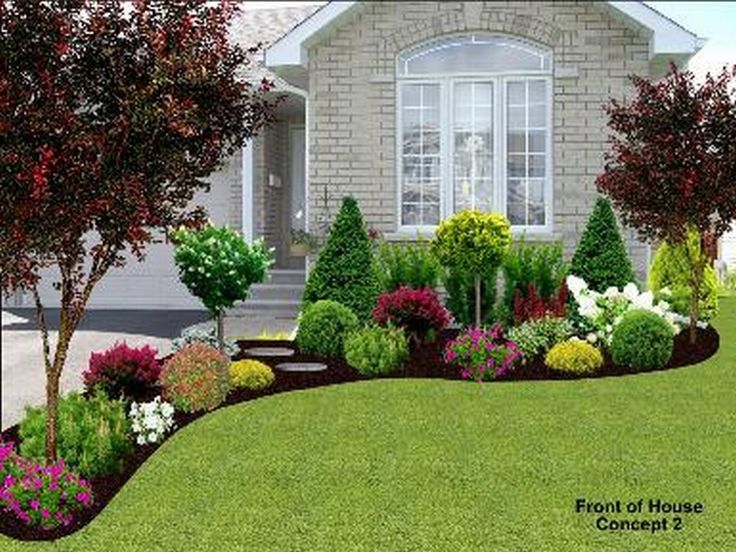 front yard landscaping ideas front-yard-landscape (10 BXEXWTA