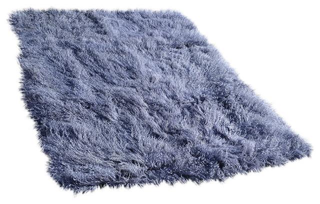 fur rugs 4u0027 x 6u0027 tibetan / mongolian lamb fur rug metallic grey contemporary-area MYGBJLM