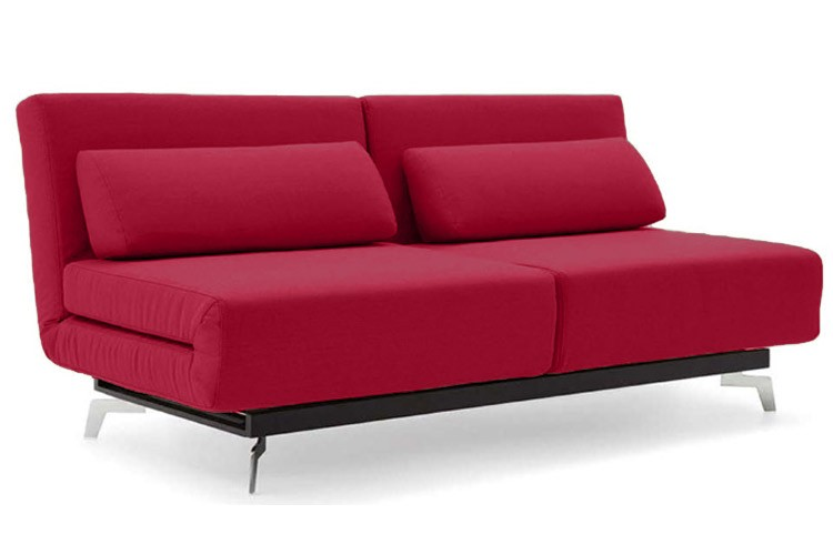 futon sofa beds apollo red convertible sofa bed sleeper with 2 matching pillows QRBNTYV