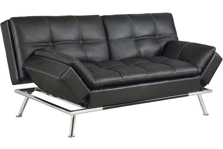 futon sofa beds matrix_modern_convertible_futon_sofa_bed_sleeper_black  matrix_modern_convertible_futon_sofa_bed_sleeper_black_lrg matrix pillowtop  bonded leather sofa bed ... DVWBXZK