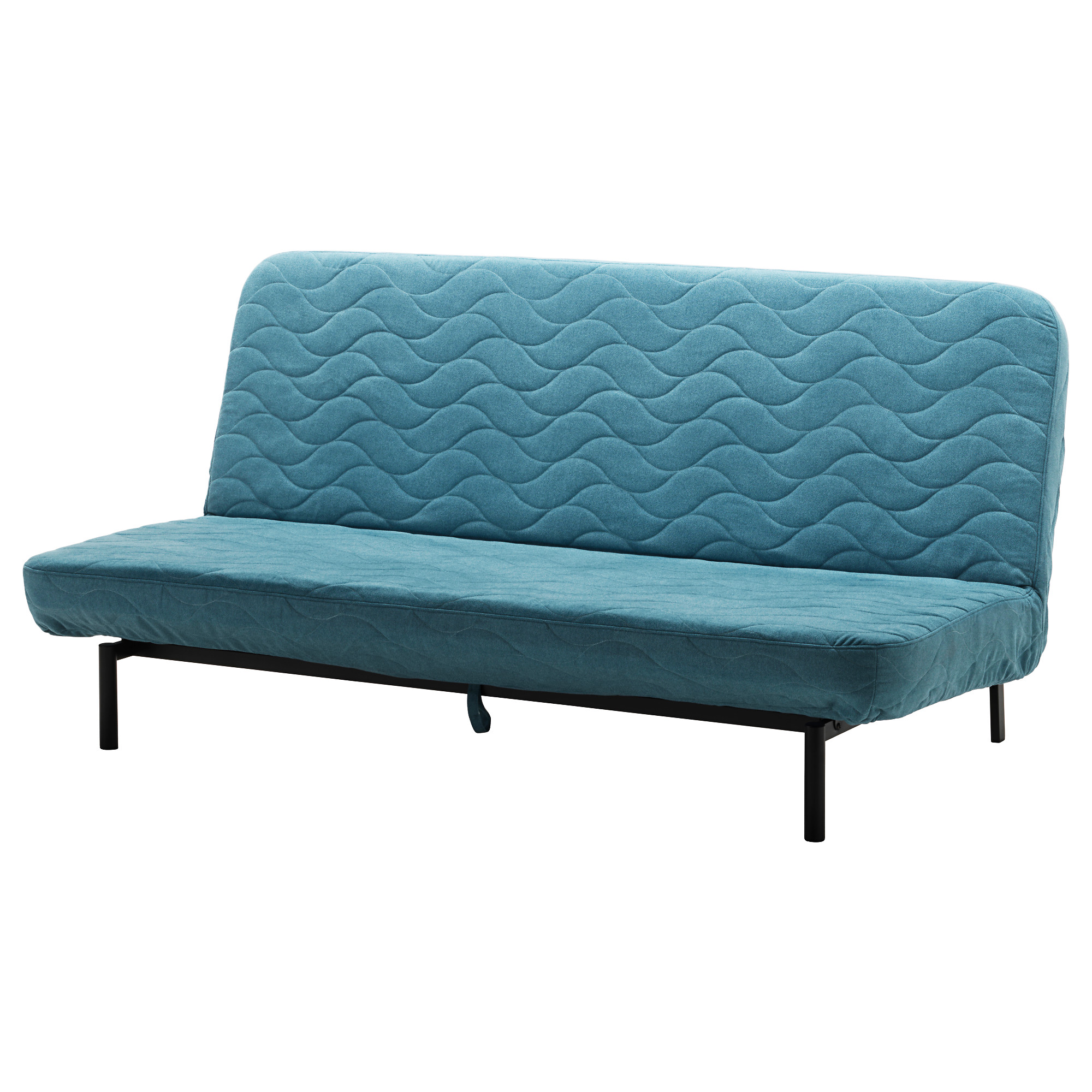 futon sofa nyhamn sleeper sofa, with foam mattress, borred green/blue width: 78 3 JGRRMLH