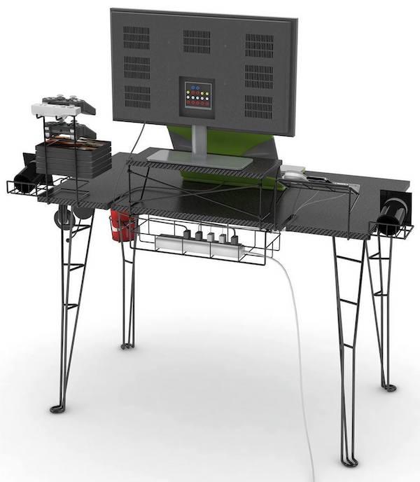 gaming computer desk atlantic-gaming-desk-rear-best-computer-desks-for- RGHWALB