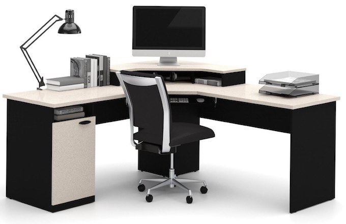 gaming computer desk bestar-hampton-corner-workstation-best-l-shaped-desk XWLQMFQ