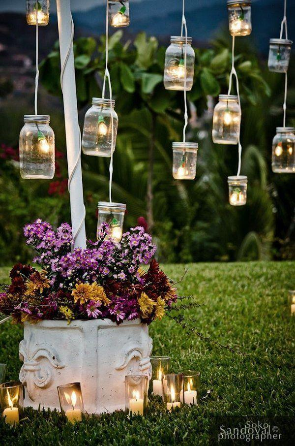 garden decor 25. easy diy mason jar lanterns TMWTDRA