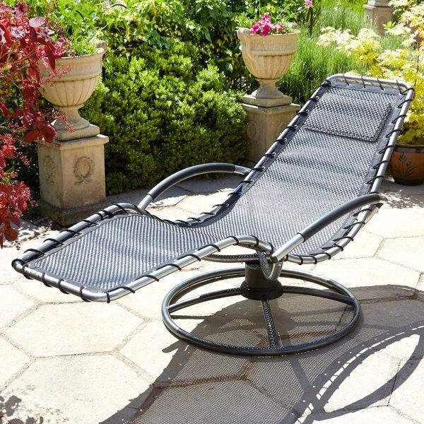 garden loungers brundle gardener - garden lounger - black WBSXUTJ