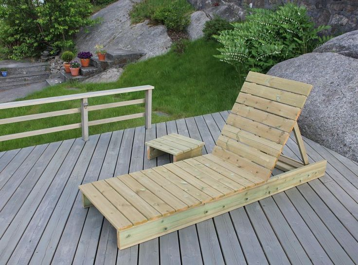 garden loungers garden lounger and side table - diy projects HDZMHMA