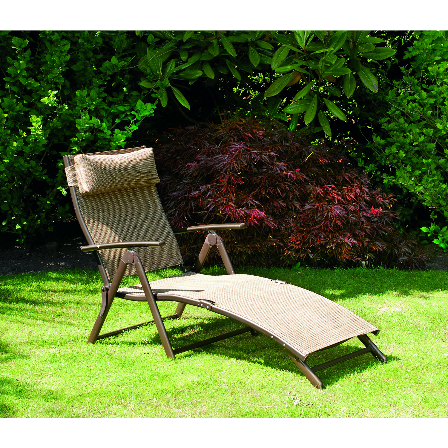 garden loungers suntime havana sun lounger in bronze sticker QFWQJFJ