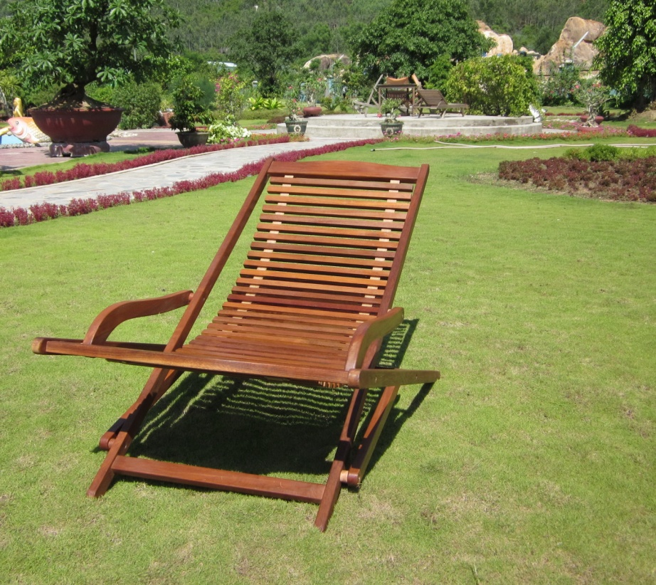 garden loungers wood relaxer- yellow balau ZETFGEL