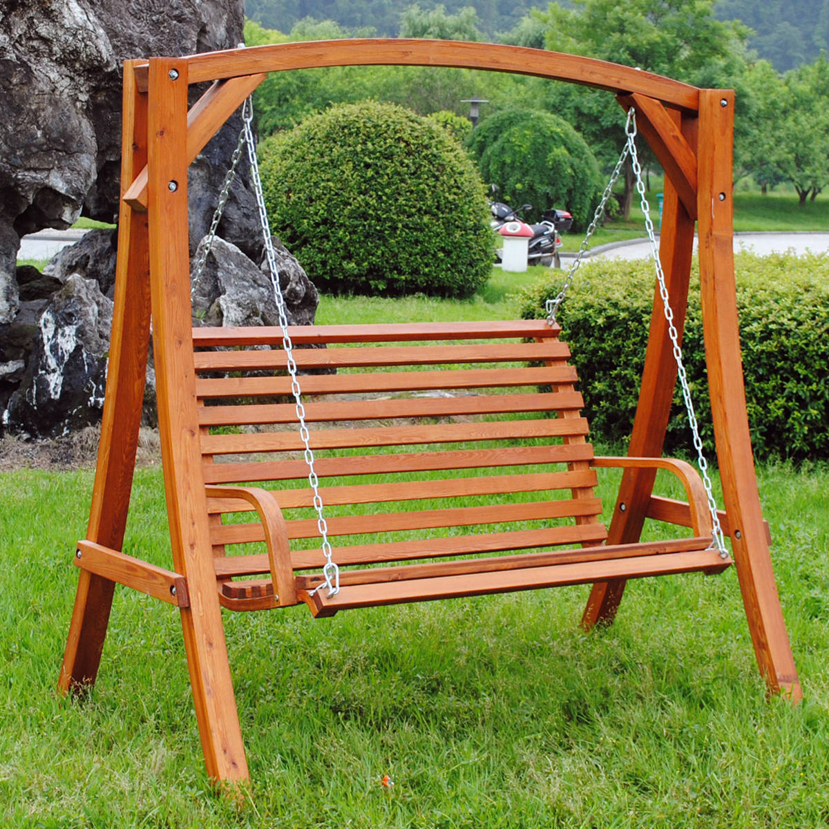 garden seats bentley-garden-wooden-2-seater-swing-chair-2 IBVDDYR
