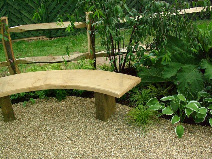 garden seats curved wooden bench for beautiful garden SWJGIDE