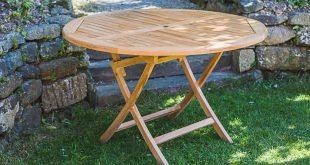 garden table round folding patio table - garden furniture land ylrhmio SMAVDND
