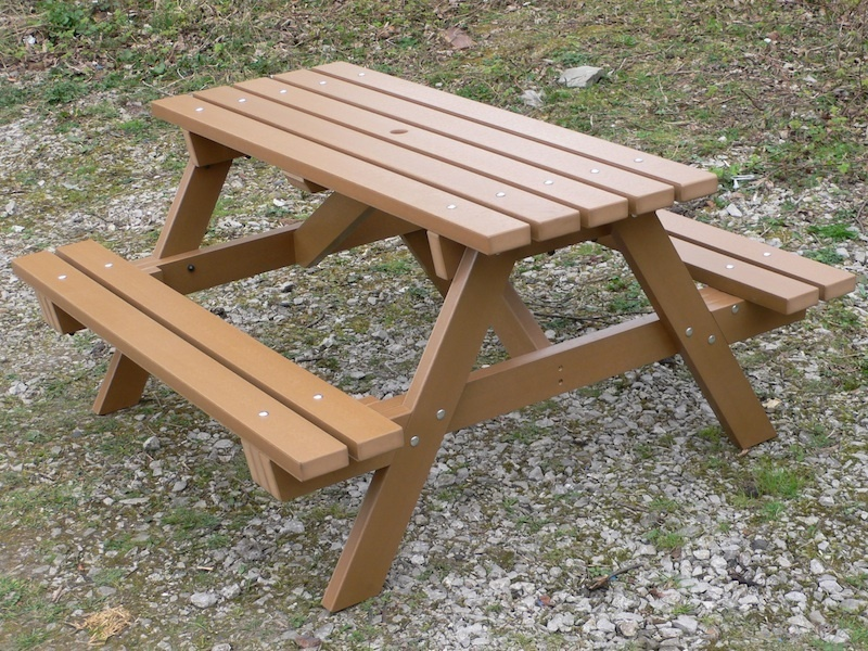 garden table thames traditional picnic table | recycled plastic | 6 seater VYWGBTY