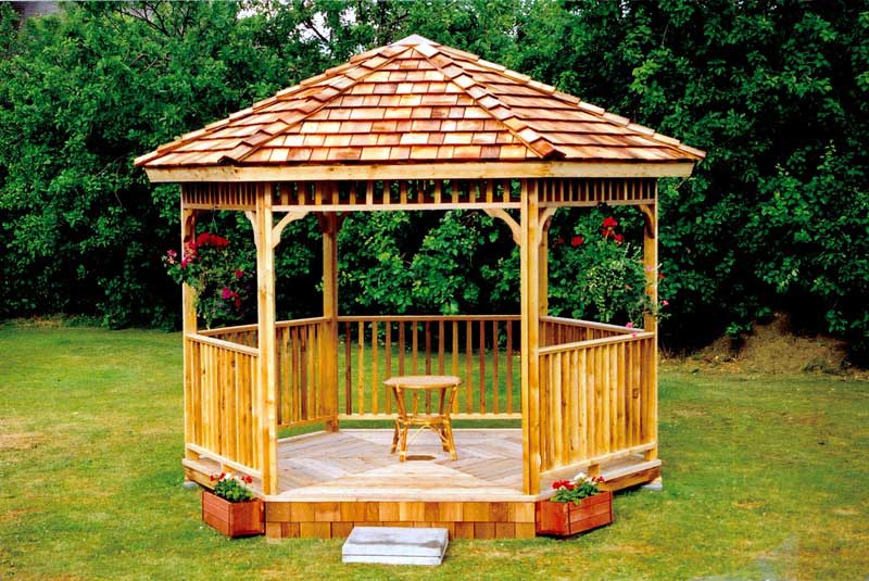 gazebo kits 8 ft hexagon gazebo kit FAPAWQK